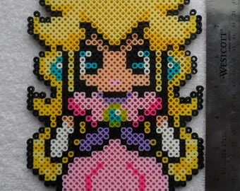 Princess Peach Perler