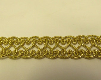 Metallic Gold Designer Braid/Gimp/Trim Craft/Haberdashery -1404