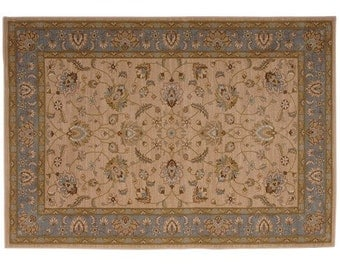 Ivory And Blue Rug