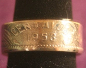 Coin Ring Made From 20 Centavos