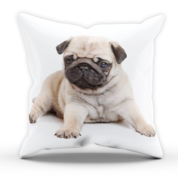 Cute Pug Puppy Pillow Table Cushion Cover Case Present Gift
