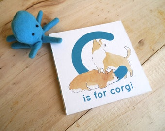 C is for Corgi - ABC book with corgis in costumes - english version