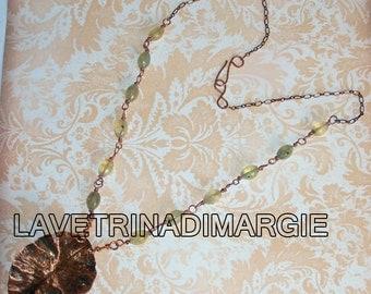 Copper pendant necklace-necklace Foldforming