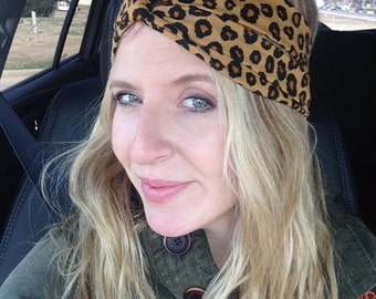 adult headband woman, Womens Leopard Headband, womens Leopard Turban, Leopard Boho headband, turban headband,turban headband, adult headband