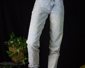 Acid wash Palmetto's jeans with zipped ankle