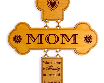 Moms day Gift for Mom,Custom Wall Cross,Mother Appreciation Gift,To Mom on her Birthday, Gift to My Mother, Festive Season Son to Mom Gift.
