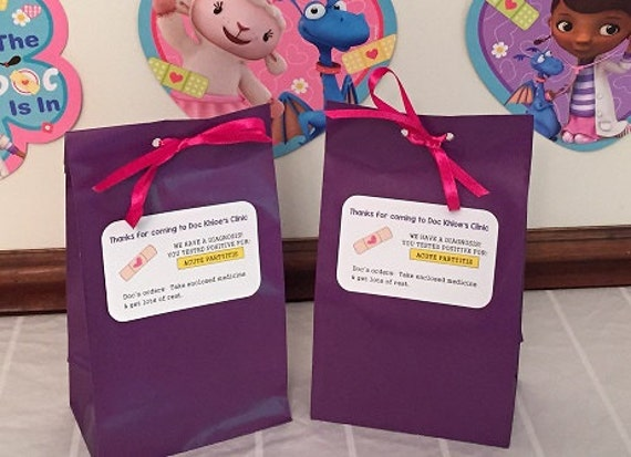 Personalized Doc Mcstuffins Birthday Party Favor Bags