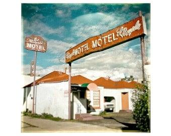 Retro Photography, vintage, Motel sign decor, retro print, Fine Art Photography - El Royale Motel