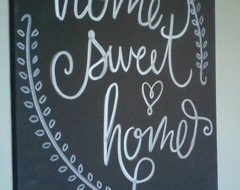Home Sweet Home Canvas Painting