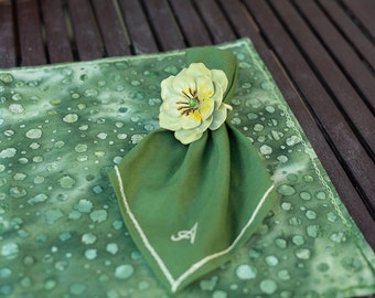 Green Placement & Napkin set