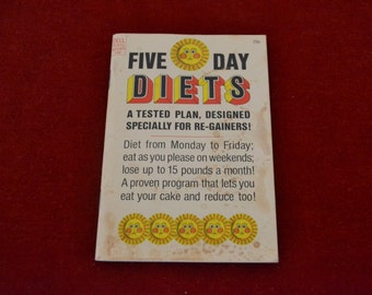 "Vintage 1967 Dell Purse Book ""Five Day Diets"""