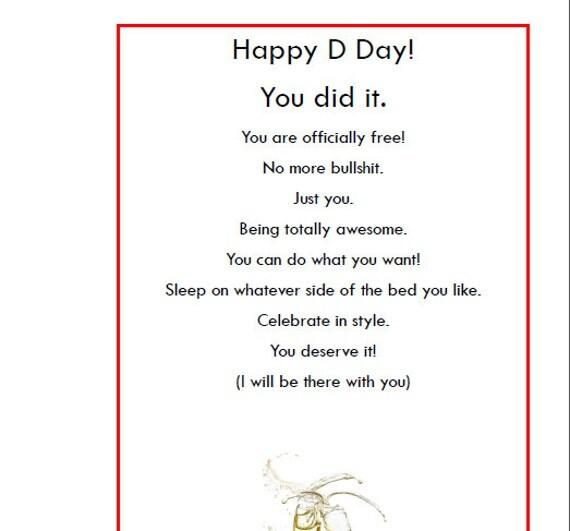 Happy Divorce Cards Happy Divorce Day