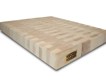 Butcher Block Premium Reversible End Grain Maple Cutting Board (12 x 18 x 2)