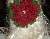 Hand Crocheted  Big Flower Hair Clip
