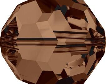Swarovski Crystal Round Beads 5000 - 3mm 4mm 5mm 6mm 8mm 10mm - Smoked Topaz