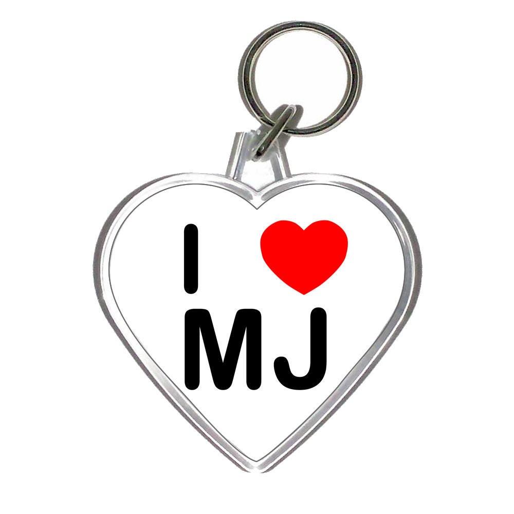 a heart shaped i love mj keychain bottle opener by iprintgiftshop. Black Bedroom Furniture Sets. Home Design Ideas