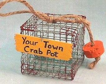 Chesapeake Bay Blue Crab Pot Ornament