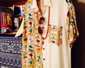 Tropical Palm Tree Dress Shirt by Santa Barbara St.