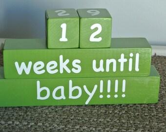 Baby Countdown Blocks, Pregnancy Countdown Blocks