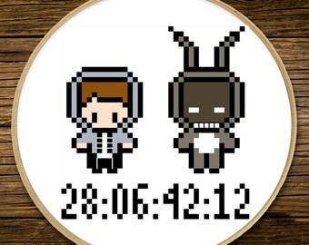 Donnie Darko - 28.06.42.12 - Cross Stitch (PATTERN ONLY)