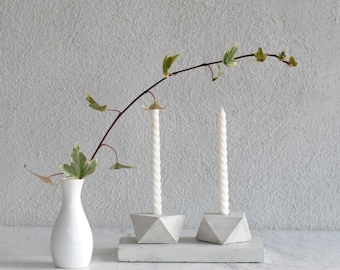 FORMA | Concrete Candle Holder - Set of 2