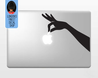 Hand Holding Apple - Macbook Vinyl Decal Sticker / Laptop Decal / iPad Sticker