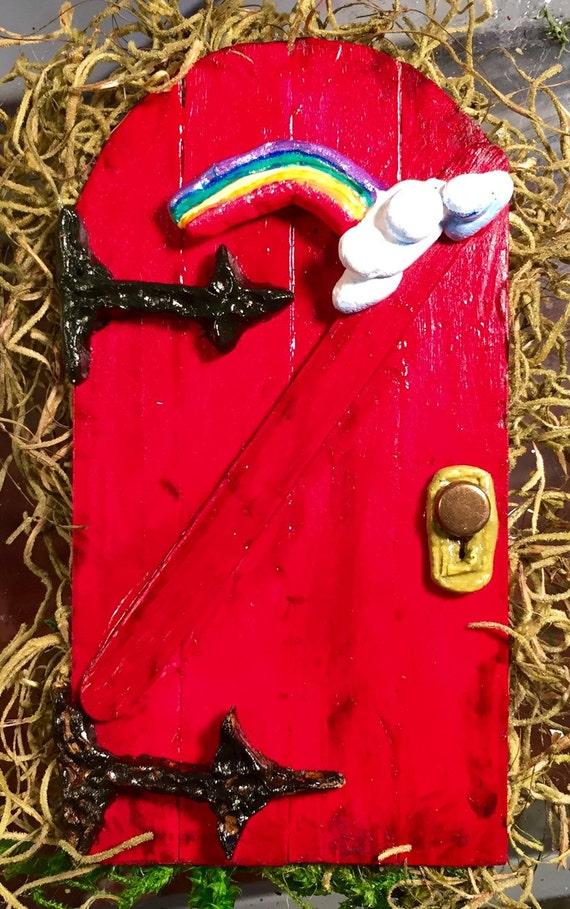 Rainbow fairy door by marignysfairies on etsy for Rainbow fairy door