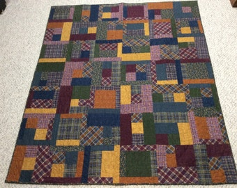 Brushed flannel quilt.