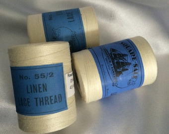 55/2 Linen Lace Thread by Fawcett