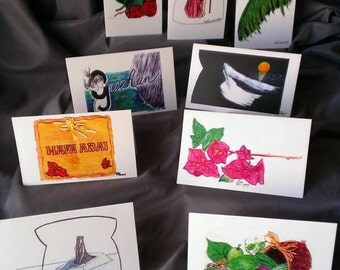 Lattering Collection #2 of 9 assorted greeting cards