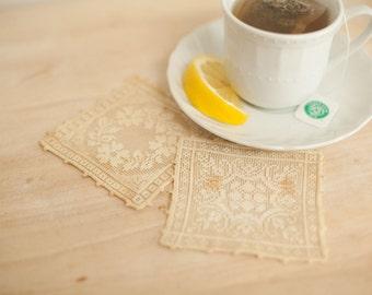 Vintage lace doily squares