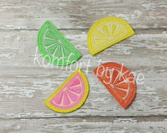 Citrus Slice Applique Felties- (set of 4) UN-CUT