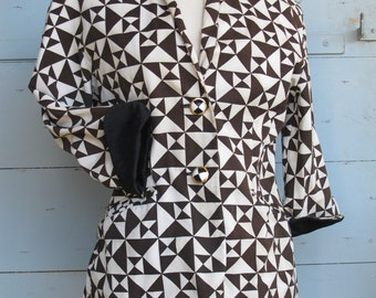 Escada Vintage Harlequin Jacket, fun and Geometric