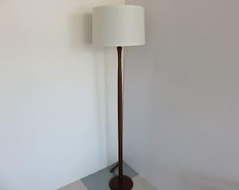 Teak Floor Lamps: Danish Mid-Century Modern Teak Floor Lamp.,Lighting