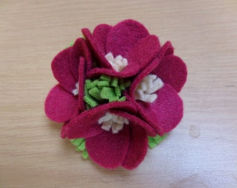 Beautiful 1940's Make Do and Mend Style Floral Felt Brooch