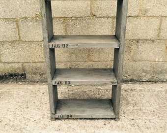Industrial up - cycled shelveing unit