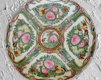 Vintage Rose Medallion Plate