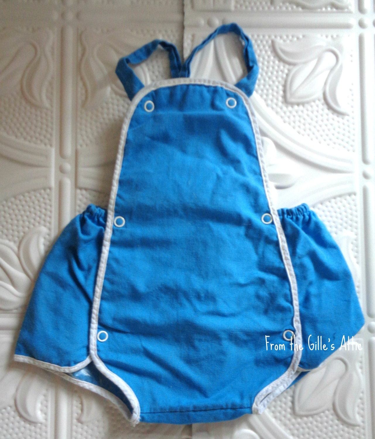 vintage baby clothes overalls shortalls baby clothing