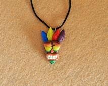 Aku Aku necklace, inpired in Crash Bandicoot.