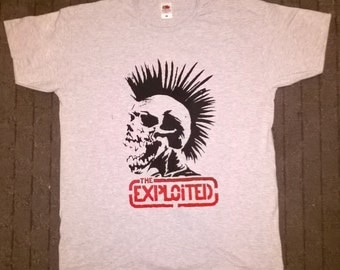 THE EXPLOITED screen printed t shirt XL