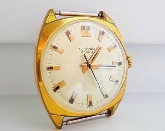 Raketa soviet watch, export brand Seconda vintage watch ussr