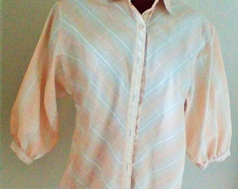 1970's Cute and Classic College Town button up blouse