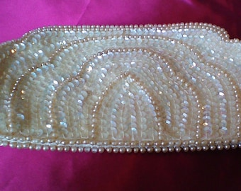 1950's Beaded Sequins Clutch by Miranda Made in Japan