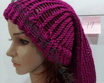 Sparkling Berry Violet Slouchy Hats