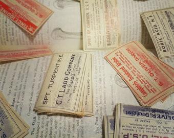 Antique Medical Labels, Curiosity, Oddity