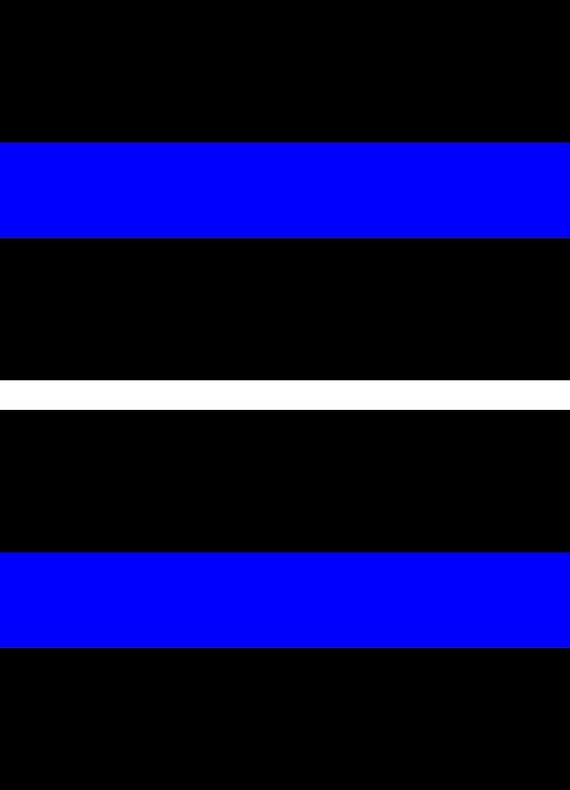 Line Reflection Reflective Thin Blue Line