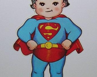 Vintage 1978 Superman DC Super Juniors paper figure