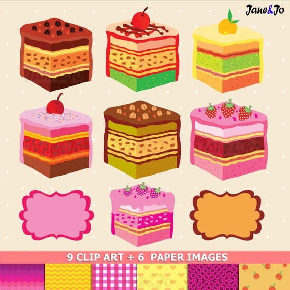 Coupon For Cake Art : 50% OFF SALE Sweet Cake SlicesA Piece of CAKE ClipArt