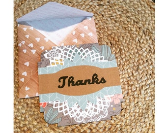 """5.5"""" Thank You Card"""