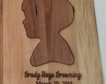 Laser Engraved Wood Silhouette